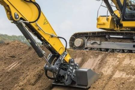 Landslide buries excavator driver along with vehicle